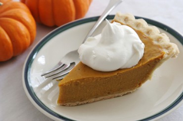 Pumpkin Pie with Homemade Whipped Cream