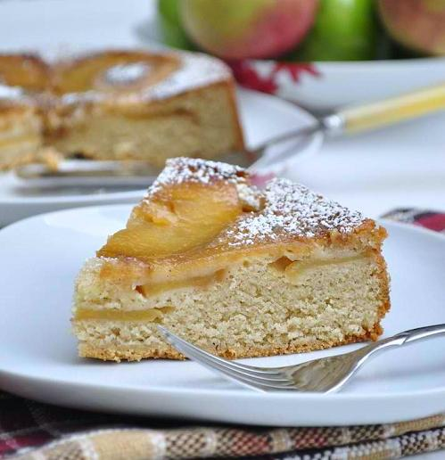 Upside-Down Butterscotch Apple Sour Cream Cake Recipe — Dishmaps