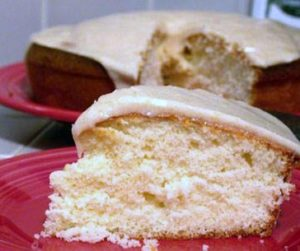 Vanilla Cake with Browned Butter Glaze