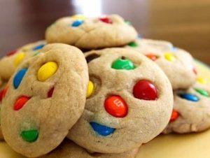 M&M's Drop Cookies