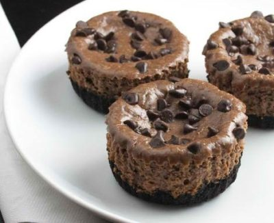 Mini Chocolate-Hazelnut Cheesecakes