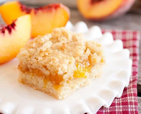 Pin Peach Crumb Bars Quick Easy Food Recipes Cake on Pinterest