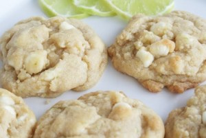 Key Lime and White Chocolate Chip Cookies