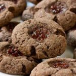 Chocolate Raspberry Thumbprint Cookies