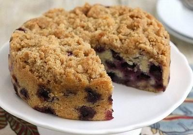 ... streusel. Here is an easy dessert recipe for Blueberry Crumb Cake
