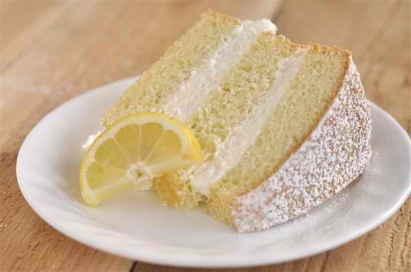 Deliciously light and airy lemon cake with creamy lemon filling ...