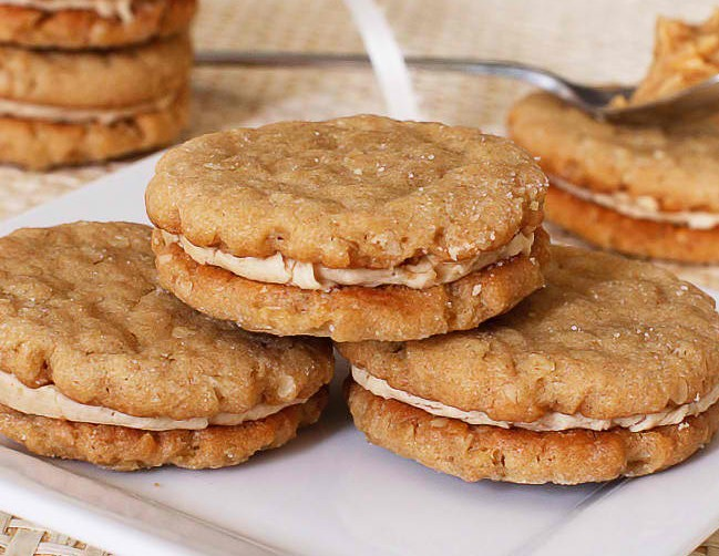 oatmeal peanut butter cookies filled with creamy peanut butter filling ...