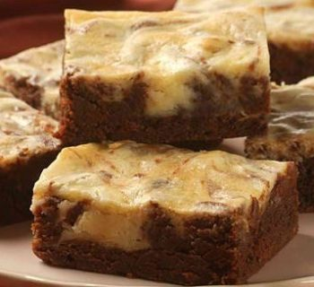 Butterscotch Brownies with Cream Cheese Swirl