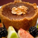 Chocolate Tarts with Nutty Crusts
