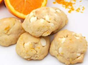 Orange and White Chocolate Chip Cookies