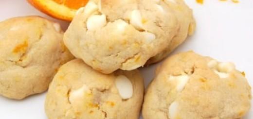 Orange and White Chocolate Chip Cookies