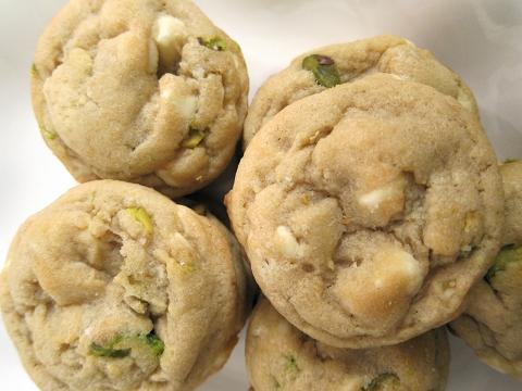 These soft and chewy White Chocolate Pistachio Cookies are delightful ...