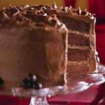 Mocha Chiffon Cake with Buttercream Filling and Chocolate Fudge Frosting