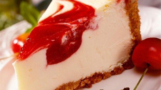 Cherry Swirl Cheesecake | Easy Dessert