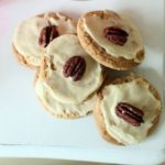 Maple Pecan White Chocolate Chip Cookies with Maple Frosting
