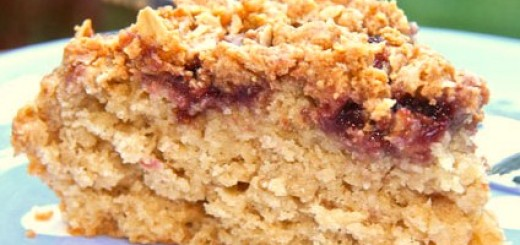Peanut Butter 'N Jelly Oatmeal Cake
