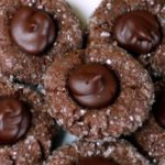 Chocolate-Peppermint Thumbprint Cookies