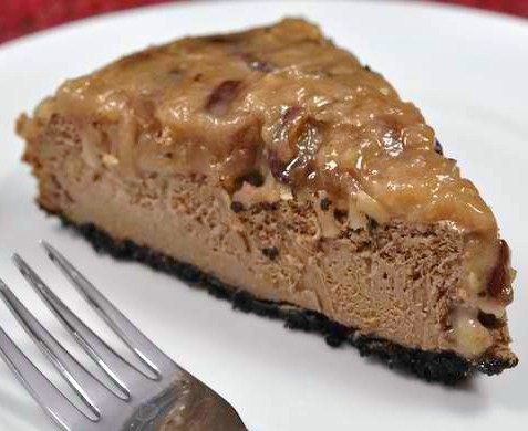 German Chocolate Cake With Cheesecake Filling
