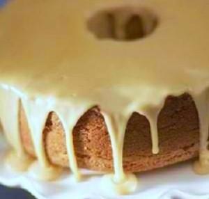 Angel Food Cake with Maple Glaze