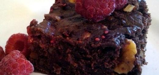 Walnut Raspberry Brownies