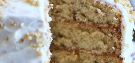 Coconut Pecan Cream Cake
