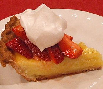 Strawberry-Lemon Pie