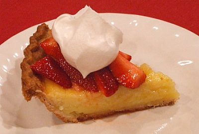 Strawberry-Lemon Pie