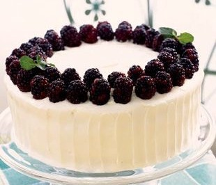 Blackberry Cake with Cream Cheese Frosting