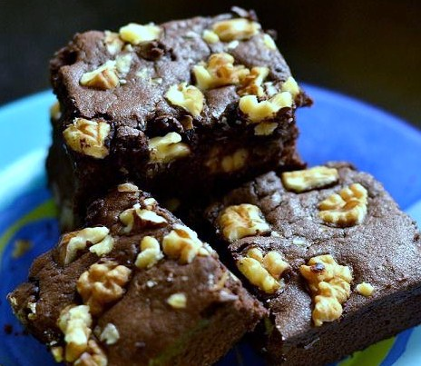 rich and chocolatey brownies made from scratch walnuts add flavor and ...