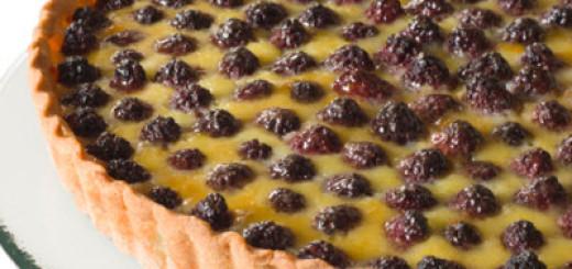 Raspberry Custard Pie