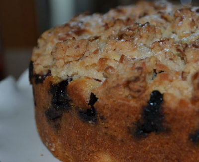 Lemon-Blueberry Cake with Coconut Crumble