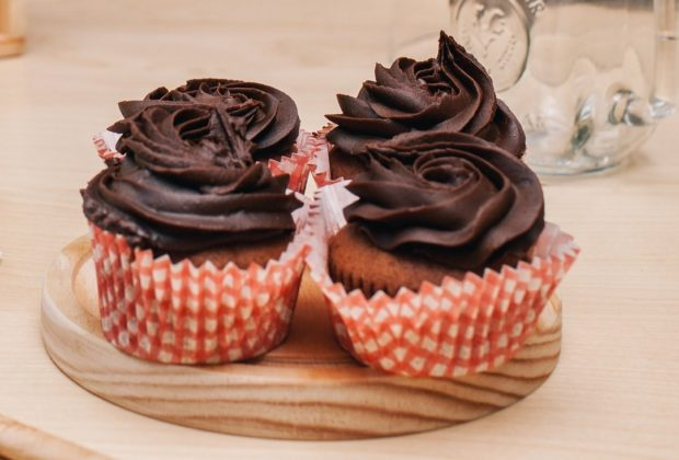 Chocolate Cupcakes with Honey-Chocolate Frosting
