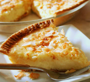 Toasted Coconut Custard Pie