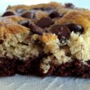 Chocolate Bottomed Banana Bars
