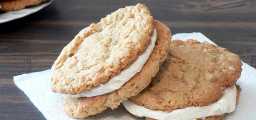 Oatmeal Marshmallow Sandwich Cookies