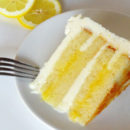 Lemon Cake with Lemon Custard Filling and Frosting