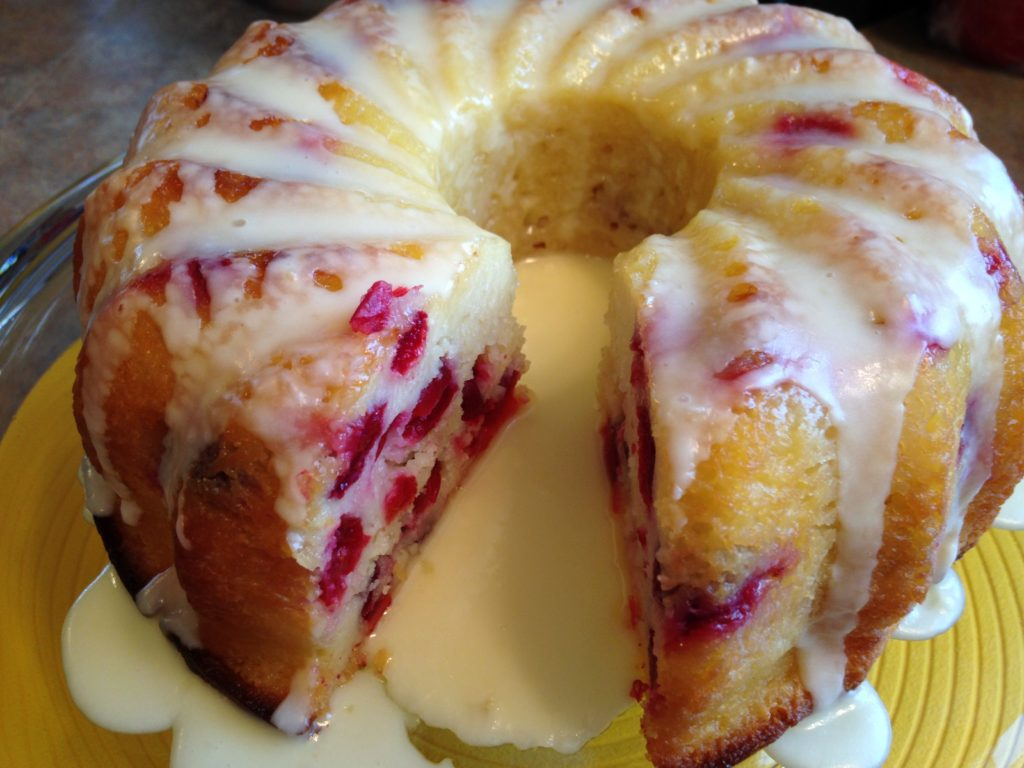 Cranberry Bundt Cake with Butter Sauce