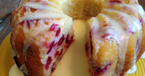 Cranberry Bundt Cake With Butter Sauce Easy Dessert